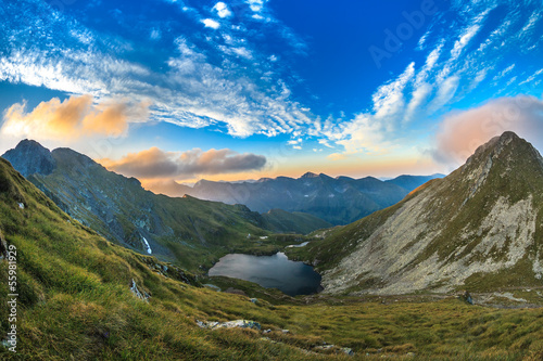 Capra lake. Fagaras Mountains,Romania