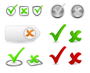 checkmark 3d icon set