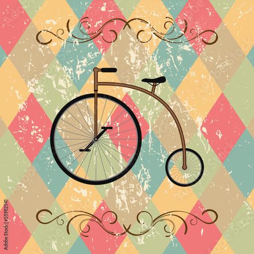 Fototapeta retro bicycle abstract background
