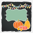 Hand drawn invitation or greeting thanksgiving card template.