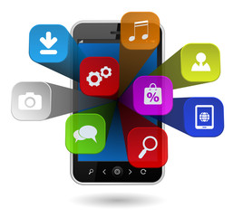 smartphone computing cloud apps 3d
