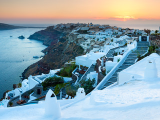 Sunset Over Oia Santorini