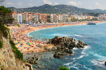 View of Lloret de Mar seashore.  Spain.