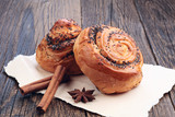 Buns with poppy seeds
