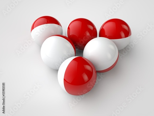 balls on the surface