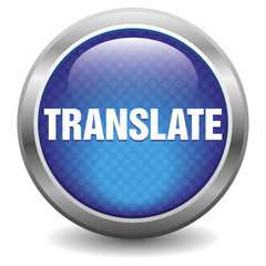 Blue translate icon