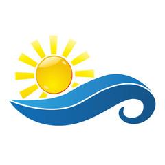 Sonne mit Wellen