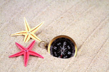 starfish and compass