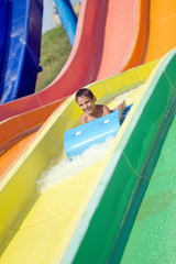 boy in the aquapark