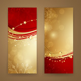 Vector Illustration of Abstract Christmas Banners