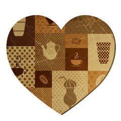 Vector Illustration of a Coffee Background