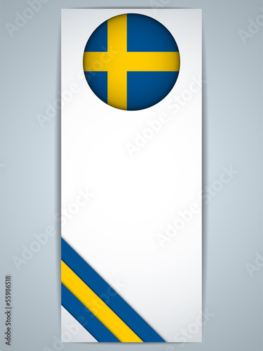 Sweden Country Set of Banners