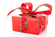 Luxury red Christmas present