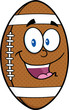 American Football Ball Cartoon Mascot Character