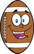 American Football Ball Cartoon Mascot Character