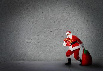 Christmas Santa with gifts.