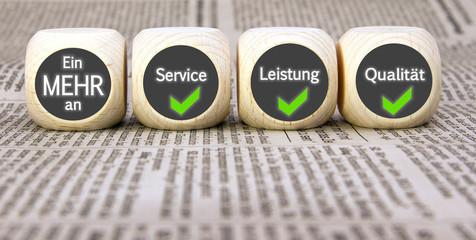 Ein MEHR an Service, Leistung, Qualität
