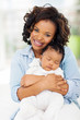 young african american mother and baby girl