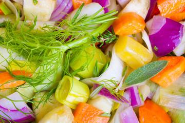 Buntes Gemüse als Hintergrund