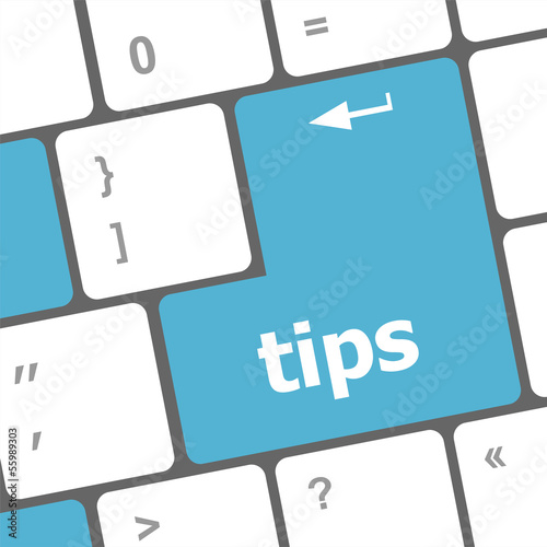 keyboard key, tips button on computer pc icon