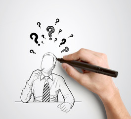 hand drawing businessman