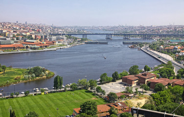 Panoramic view of Istanbul city, Turkey