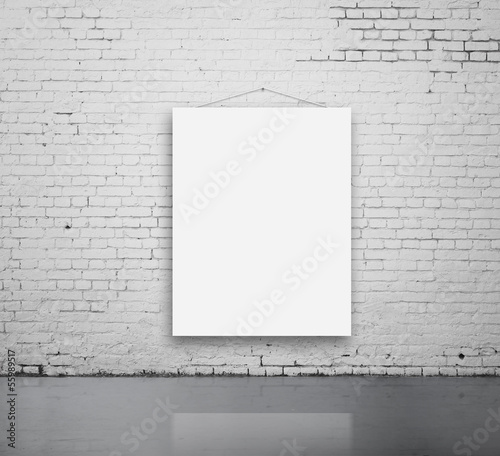 blank poster on wall