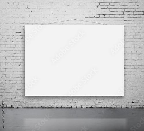 white poster