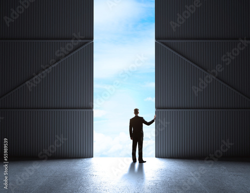 doors to hangar