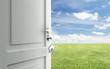 door  to field