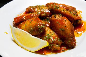 red sauce chiken lemon wing