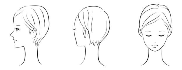 シンプルな顔のオブジェクト