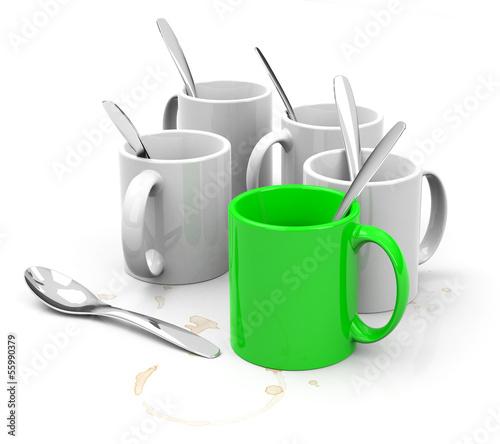 Die Kaffeetassen