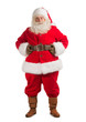 Santa Claus standing isolated on white background