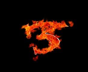 Tres en llamas.