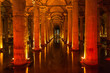 Underground Basilica Cistern (Yerebatan Sarnici) in Istanbul, Tu