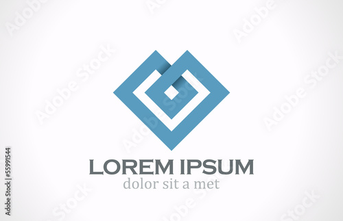 Logo Fashion luxury abstract heart vector design