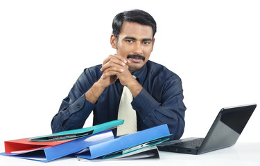 Indian Businessman with laptop