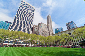 Bryant Park at lunchtime, New York