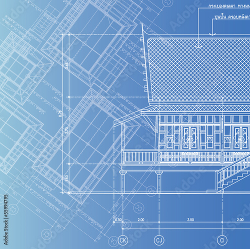 Blue print architect