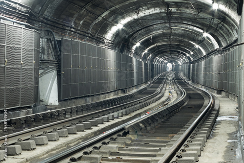 Empty Subway Tunnel
