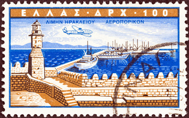 Heraklion port (Greece 1958)