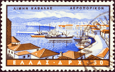 Kavala port (Greece 1958)