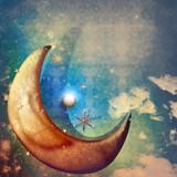 Moonlight and stars