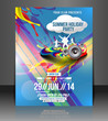 Vector Summer Party Brochure, Flyer, Magazine Cover