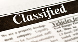 Fake Classified Ad, newspaper, business concept