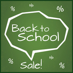 Back to school sale, illustration.