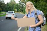 Tramp will als Anhalter mitfahren poster