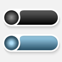 black and blue vector abstract buttons