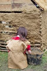 construction médiévale en torchis